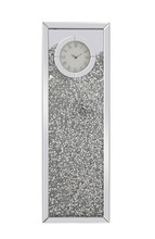Elegant MR9206 - 12 inch Rectangle Crystal Wall Clock Silver Royal Cut Crystal