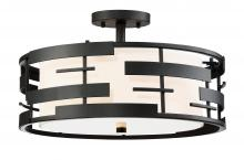 Nuvo 60/6436 - Lansing Three Light Semi Flush