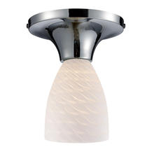ELK Lighting 10152/1PC-WS - Celina 1 Light Semi Flush In Polished Chrome And